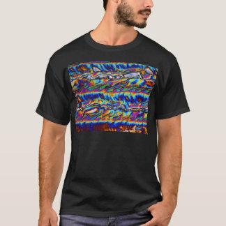 Cristais do acetato do zinco sob o microscópio camisetas