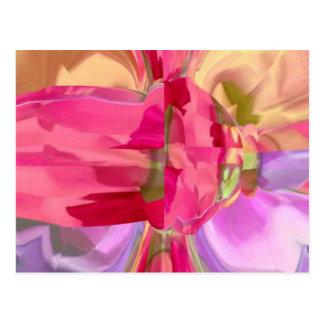 Cristal cor-de-rosa - pétala do botão n de RedRose Cartão Postal