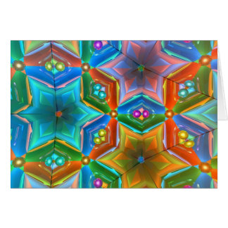 Cristal de Kaleido3D Cartão Comemorativo