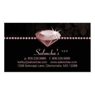 Cristal de rocha do coração do rosa do cartão de v modelo cartão de visita