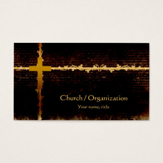 Cristandade - cartão de visita da obscuridade do