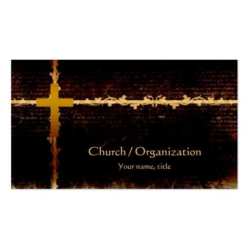 Cristandade - cartão de visita da obscuridade do t