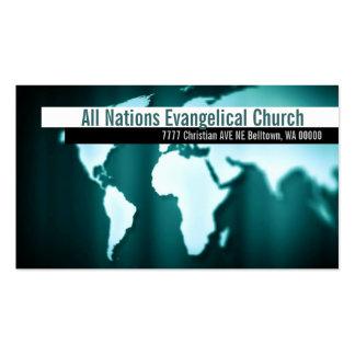 Cristandade cristã do pastor da religião religiosa modelos cartões de visitas