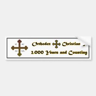 Cristandade ortodoxo 2.000 anos e contagem adesivo para carro