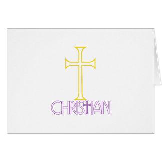 Cristão Cartão Comemorativo