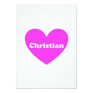 Cristão Convite 12.7 X 17.78cm
