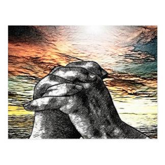 Cristão do católico da oração da manhã cartão postal