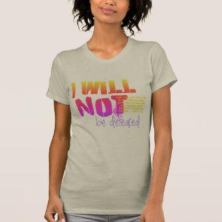 Cristão eu não serei derrotado com escritura camiseta