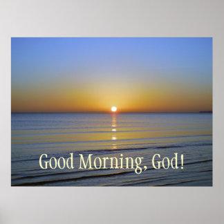 Cristão inspirado do nascer do sol do deus do bom  poster