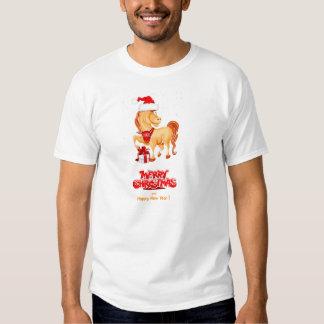 Cristmas do casado e camiseta 2014 do feliz ano