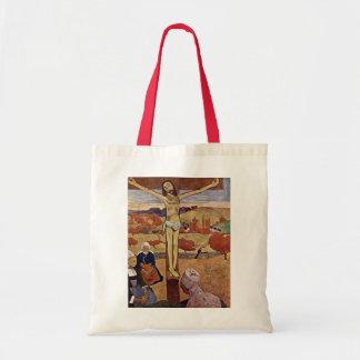 Cristo amarelo por Gauguin, impressionismo do Sacola Tote Budget