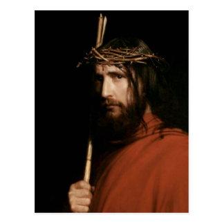 Cristo com espinhos. Cartão das belas artes Cartões Postais