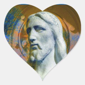 Cristo com etiqueta do coração do halo