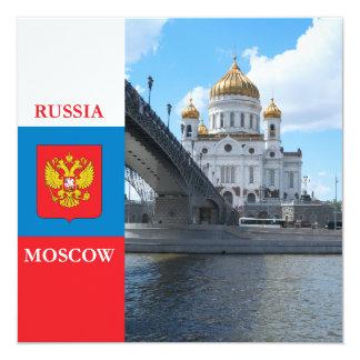 Cristo da catedral o salvador em Moscovo Convite Quadrado 13.35 X 13.35cm
