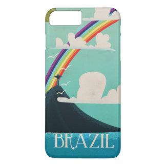cristo de Brasil o poster das viagens vintage do Capa iPhone 7 Plus