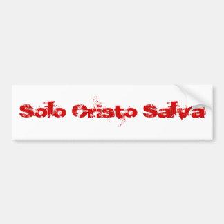 Cristo de solo Salva (Rojo) Adesivo Para Carro