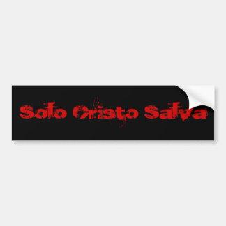 Cristo de solo Salva (Rojo/negro) Adesivo