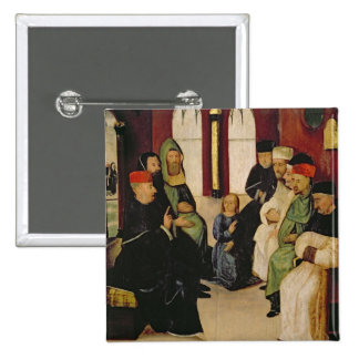 Cristo entre os doutores (óleo no painel) botons