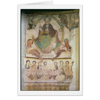 Cristo na majestade com os quatro símbolos evangél cartões