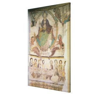 Cristo na majestade com os quatro símbolos evangél impressão em tela canvas