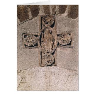 Cristo na majestade com símbolos do cartão comemorativo