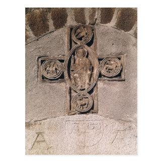 Cristo na majestade com símbolos do cartão postal