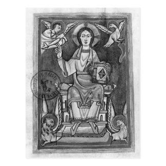 Cristo na majestade, de um Benedictional Cartão Postal