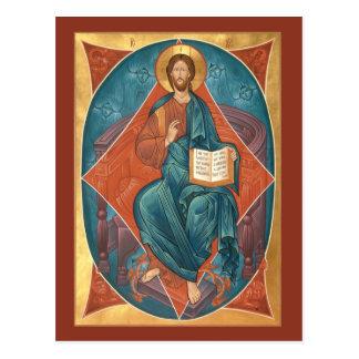 Cristo no cartão da glória cartão postal