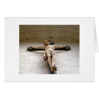 Cristo no cartão vazio transversal
