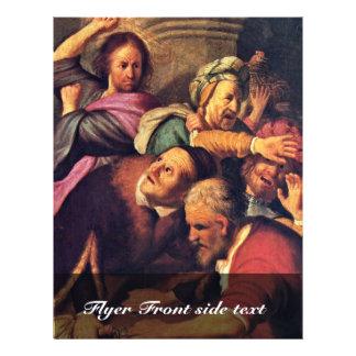 Cristo que conduz os Dinheiro-Cambiadores do templ Panfleto Personalizado