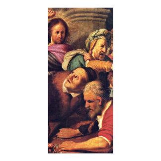 Cristo que conduz os Dinheiro-Cambiadores do templ 10.16 X 22.86cm Panfleto