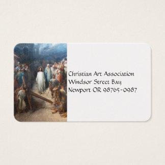 Cristo que deixa Praetorium Cartão De Visitas