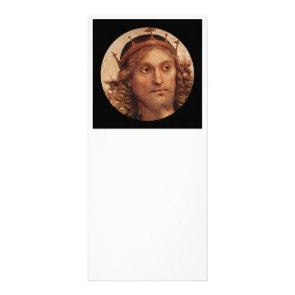 Cristo Resurrected na coroa dourada 10.16 X 22.86cm Panfleto