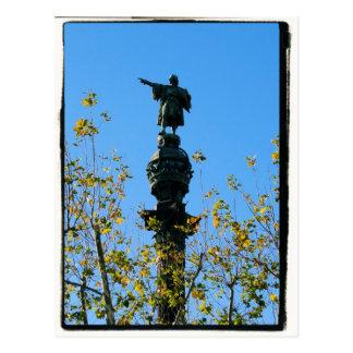 Cristóvão Colombo - Barcelona, cartão da espanha