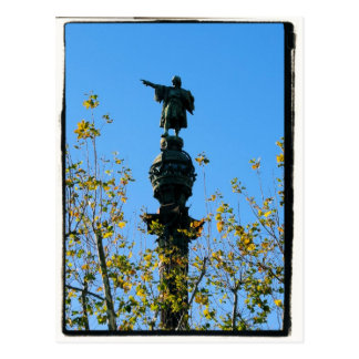 Cristóvão Colombo - Barcelona, cartão da espanha Cartao Postal
