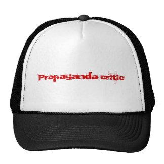 Crítico da propaganda boné