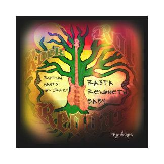 Crivo da reggae do rolo da rocha impressão de canvas envolvidas