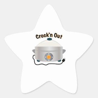 Crockn para fora adesito estrela