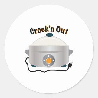 Crockn para fora adesivo