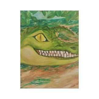 Crocodilo de sorriso em canvas