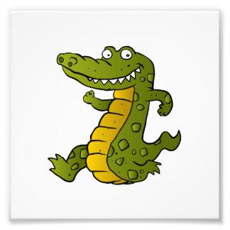 Crocodilo dos desenhos animados impressão de foto