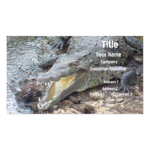 Crocodilo jamaicano da água salgada modelos cartões de visita