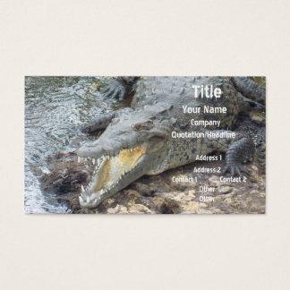 Crocodilo jamaicano da água salgada cartão de visitas