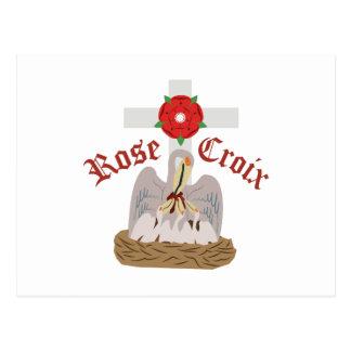 Croix cor-de-rosa cartão postal