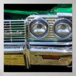 cromo clássico do impala com pintura verde impressão