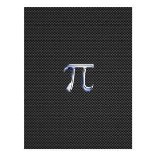 Cromo como o símbolo do Pi no impressão da fibra Cartão Postal