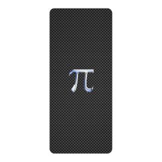 Cromo como o símbolo do Pi no impressão da fibra Convite 10.16 X 23.49cm