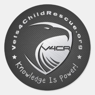 cromo da etiqueta de Vets4ChildRescue.org