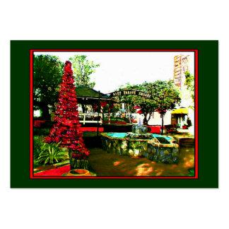 Cromo de colecção 2004 do artista do Natal da vila Modelo Cartoes De Visita