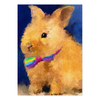 Cromos de colecção da arte do coelhinho da Páscoa Cartão De Visita Grande